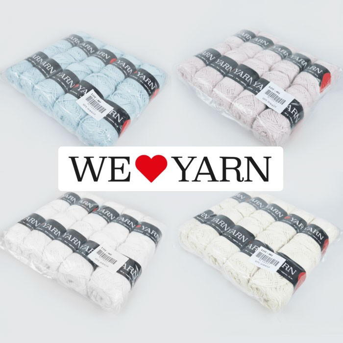 8/8 Cotton yarn in bags of 10 skeins Cotton Yarn We Love Yarn