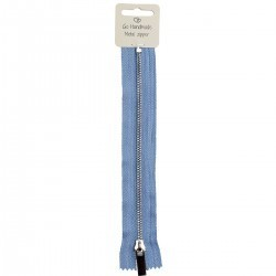Metal Zipper 25 cm / 9.84 inches - Jeans Blue Accessories Go Handmade